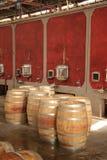 De productie van de wijn Stock Foto