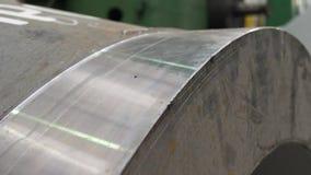 De productie van turbine van de machts de elektrische rotor voor generator stock footage