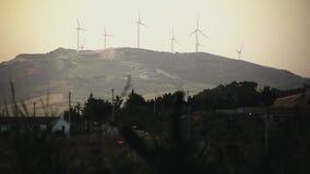 De productie van de windenergie #4 stock footage