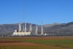 De productiefabriek van de houtskoolelektriciteit Royalty-vrije Stock Fotografie