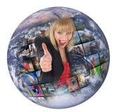 De productietechnologie van de televisie Stock Foto