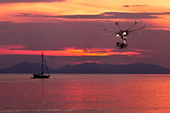 De professionele helikopter Stock Afbeelding