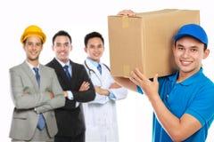 De professionele leveringsdiensten Stock Afbeeldingen