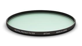 De professionele neutrale foto beschermt filter 77 mm vector illustratie