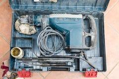 De professionele pneumatische perforator van de hamerboor Stock Afbeeldingen