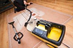 De professionele schoonmakende dienst van de hulpmiddelenmachine stock foto's