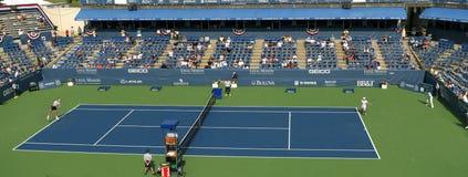 De professionele Spelers van het Tennis - Gelijke, Stadion Stock Afbeelding