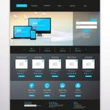 De professionele vectorillustratie van het websitemalplaatje, Stock Foto