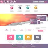 De professionele vectorillustratie van het websitemalplaatje, Royalty-vrije Stock Afbeelding