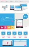 De professionele vectorillustratie van het websitemalplaatje, Stock Afbeeldingen