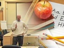 De Professor van de universiteit Stock Afbeeldingen