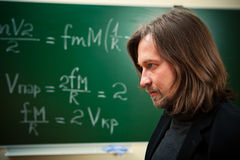 De professor van Math Stock Foto's