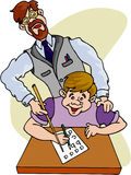De Professor van Teatcher stock illustratie