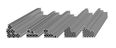 De profielen van het aluminium stock illustratie