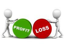 De profits et pertes Photos stock