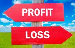 De profits et pertes Photographie stock libre de droits
