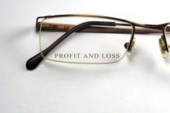 De profits et pertes images stock
