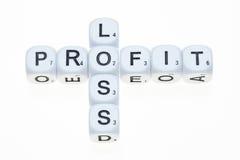 De profits et pertes sur des matrices images libres de droits