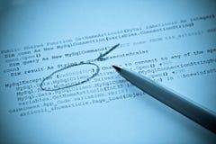 De programmeringsgegevensbestand van de computer Stock Afbeeldingen