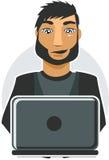 De Programmeur van de computer in vector Stock Foto
