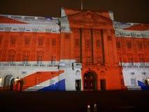 De projectie van het Buckingham Palace van beelden Royalty-vrije Stock Foto's