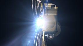 De projectorfilm toont stock footage