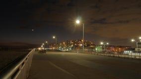 De promenade na de zonsondergang Stock Foto's