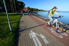 De Promenade Nida litouwen Royalty-vrije Stock Afbeeldingen