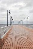 De promenade van de pier Stock Foto's