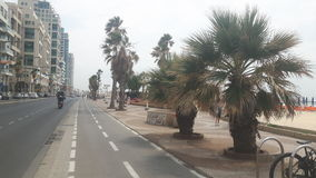 De promenade van de strandstrandboulevard stock foto