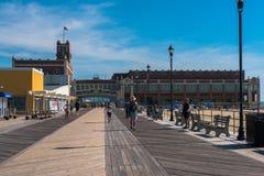 De Promenade van het Asburypark stock foto's