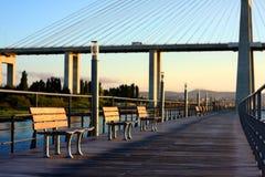 De Promenade van het over-water Royalty-vrije Stock Afbeeldingen