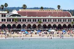 De Promenade van het Strand van Cruz van de kerstman Royalty-vrije Stock Afbeeldingen
