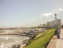 De Promenade van Mar del Plata Stock Afbeeldingen
