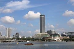 De Promenade van Singapore met Blauwe Hemel royalty-vrije stock foto's