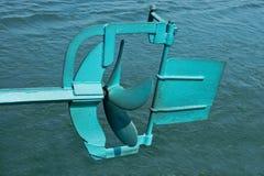 De propeller van de boot Stock Foto