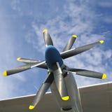De propellers van Airplaine Stock Afbeelding