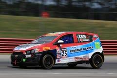 De proraceauto van Chevrolet Sonic op de cursus Stock Fotografie