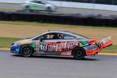 De proraceauto van Si van HPD Honda Civic op de cursus Stock Foto's