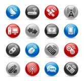 De ProReeks van de radio & van het Communicatie Gel van // stock illustratie