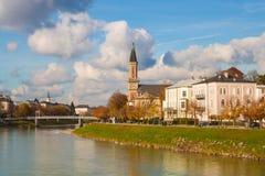 De protestantse Kerk Christuskirche van parochiesalzburg Christus op royalty-vrije stock foto