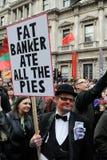 De Protesteerder van anti-besnoeiingen in Londen Royalty-vrije Stock Foto's