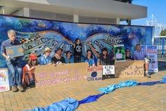 De protesteerders 'van de uitstervenopstand 'in Tauranga, Nieuw Zeeland royalty-vrije stock afbeelding