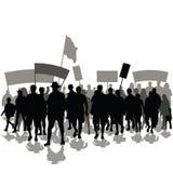 De protesteerders overbevolken royalty-vrije illustratie