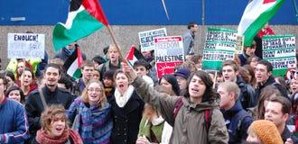 De protesteerders van de student bij de Universiteit van Edinburgh Stock Fotografie
