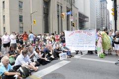 De protesteerders van de zitting. Royalty-vrije Stock Foto