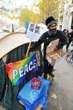 De protesteerders van Londen Stock Foto