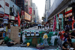 De protesteerdersafstand houden 2014 van Hongkong Stock Fotografie