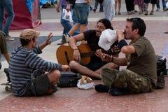 De Protesten van Barcelona Stock Foto