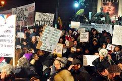 De Protesten van Boekarest - 19 januari 2012 - 17 Stock Afbeeldingen